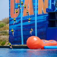 Me taking part in the ITV gameshow Cannonball presented by Freddie Flintoff